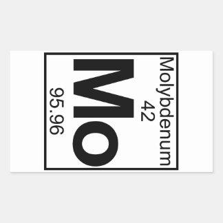 Element 042 - Mo - Molybdenum (Full) Rectangular Sticker