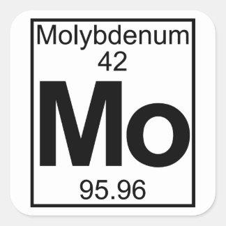 Element 042 - Mo - Molybdenum (Full) Square Sticker