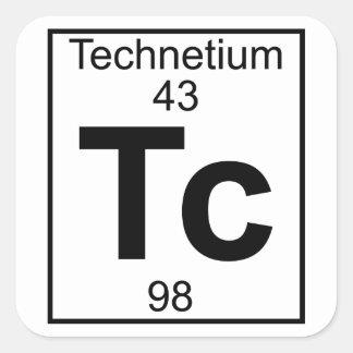 Element 043 - Tc - Technetium (Full) Square Sticker