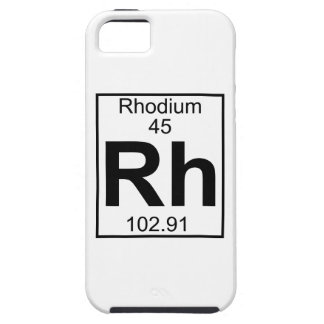 Element 045 - Rh - Rhodium (Full) iPhone SE/5/5s Case