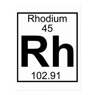 Element 045 - Rh - Rhodium (Full) Postcard