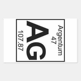 Element 047 - Ag - Argentum (Full) Rectangular Sticker