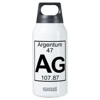 Element 047 - Ag - Argentum (Full) 10 Oz Insulated SIGG Thermos Water Bottle