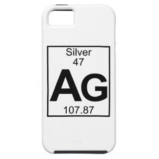 Element 047 - Ag - Silver (Full) iPhone 5 Cover