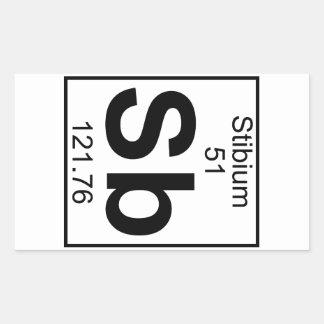 Element 051 - Sb - Stibium (Full) Rectangular Sticker