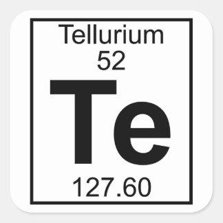 Element 052 - Te - Tellurium (Full) Square Sticker