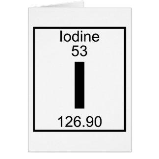 Element 053 - I - Iodine (Full) Cards