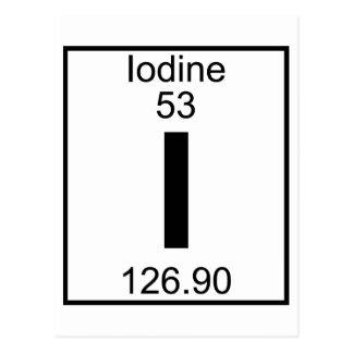 Element 053 - I - Iodine (Full) Postcard