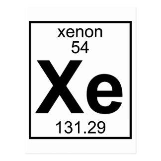 Element 054 - Xe - Xenon (Full) Postcard