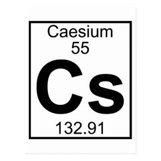 Element 055 - Cs - Caesium (Full) Postcard