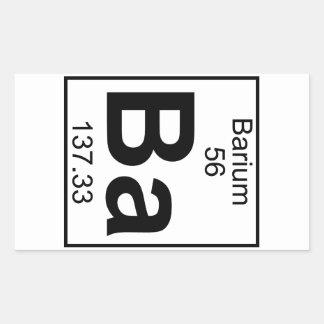 Element 056 - Ba - Barium (Full) Rectangular Sticker
