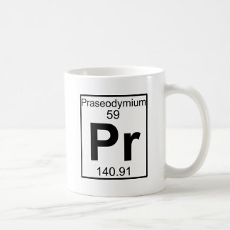 Element 059 - Pr - Praseodymium (Full) Classic White Coffee Mug