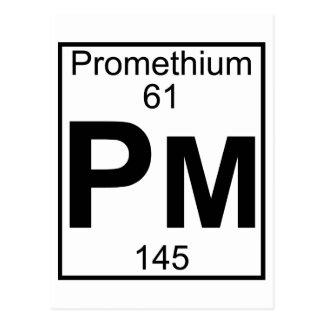 Element 061 - Pm - Promethium (Full) Postcard