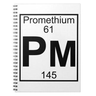 Element 061 - Pm - Promethium (Full) Spiral Notebook