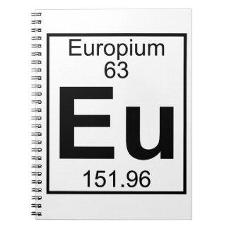Element 063 - Eu - Europium (Full) Spiral Notebooks