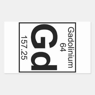 Element 064 - Gd - Gadolinium (Full) Rectangular Sticker