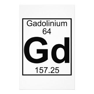 Element 064 - Gd - Gadolinium (Full) Stationery Paper