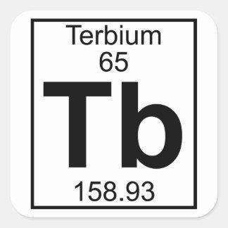 Element 065 - Tb - Terbium (Full) Square Sticker