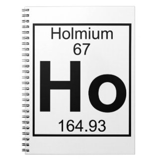Element 067 - Ho - Holmium (Full) Note Book