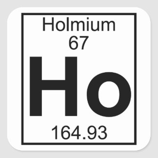 Element 067 - Ho - Holmium (Full) Square Sticker