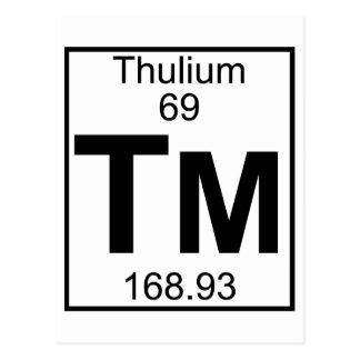 Element 069 - Tm - Thulium (Full) Postcard