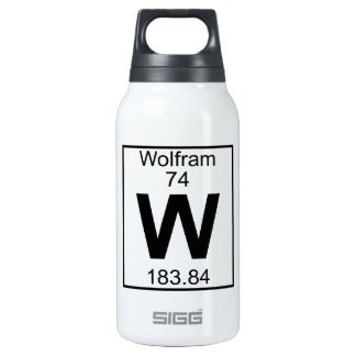 Element 074 - W - Wolfram (Full) 10 Oz Insulated SIGG Thermos Water Bottle