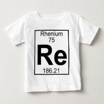 Element 075 - Re - Rhenium (Full) Baby T-Shirt
