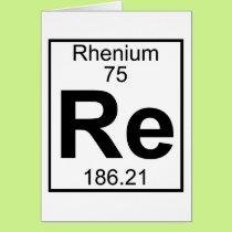 Element 075 - Re - Rhenium (Full) Card