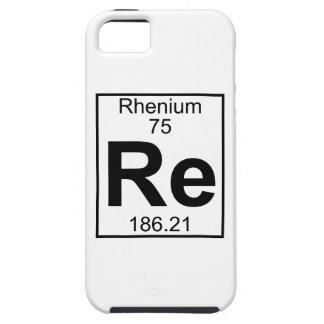 Element 075 - Re - Rhenium (Full) iPhone SE/5/5s Case