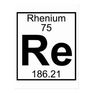 Element 075 - Re - Rhenium (Full) Postcard