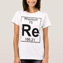 Element 075 - Re - Rhenium (Full) T-Shirt