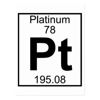 Element 078 - Pt - Platinum (Full) Postcard