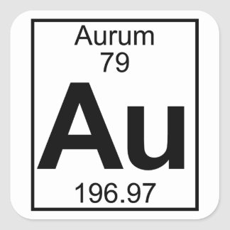 Gold periodic table stickers zazzle element 079 au aurum full square sticker urtaz Image collections