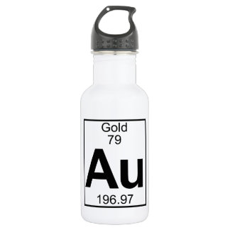 Element 079 - Au - Gold (Full) Water Bottle