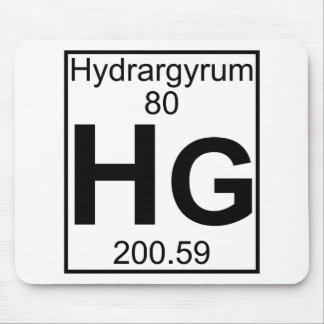 Element 080 - Hg - Hydrargyrum (Full) Mouse Pad