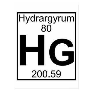 Element 080 - Hg - Hydrargyrum (Full) Post Card