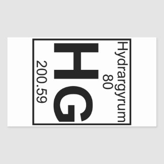 Element 080 - Hg - Hydrargyrum (Full) Rectangular Sticker