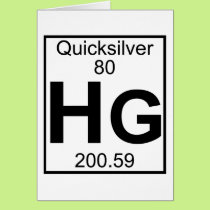 Element 080 - Hg - Quicksilver (Full) Card