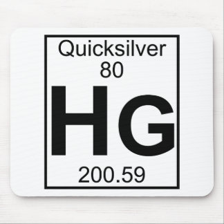 Element 080 - Hg - Quicksilver (Full) Mouse Pad