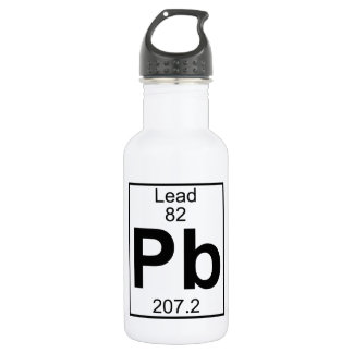 Element 082 - Pb - Lead (Full) Stainless Steel Water Bottle
