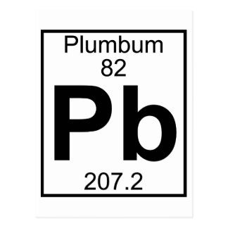 Element 082 - Pb - Plumbum (Full) Postcard