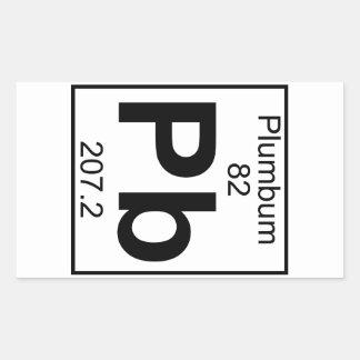 Element 082 - Pb - Plumbum (Full) Rectangular Sticker