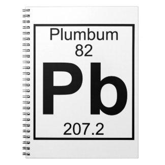 Element 082 - Pb - Plumbum (Full) Spiral Notebook