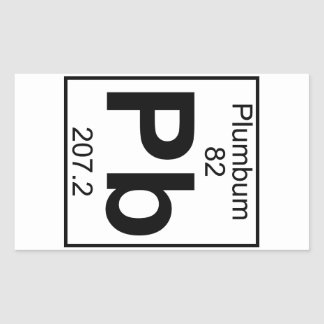 Element 082 - Pb - Plumbum (Full) Rectangle Stickers