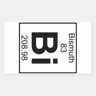 Element 083 - Bi - Bismuth (Full) Rectangular Sticker