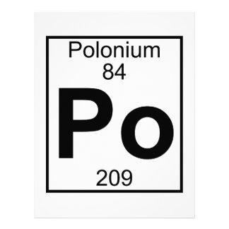 Element 084 - Po - Polonium (Full) Letterhead Template