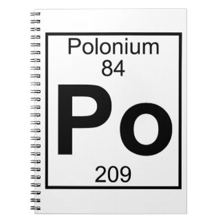 Element 084 - Po - Polonium (Full) Notebook