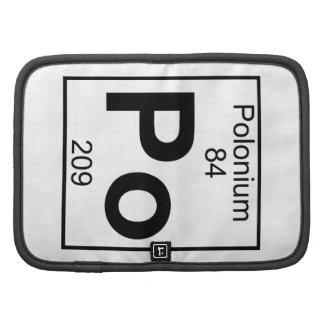 Element 084 - Po - Polonium (Full) Folio Planners