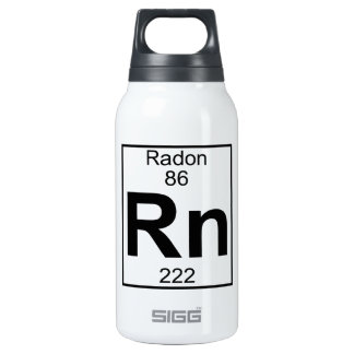 Element 086 - Rn - Radon (Full) 10 Oz Insulated SIGG Thermos Water Bottle