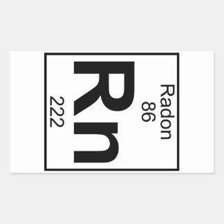 Element 086 - Rn - Radon (Full) Rectangular Sticker
